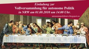 Vollversammlung für autonome Politik in NRW